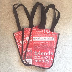 Lululemon 3 Small Shopping Bags